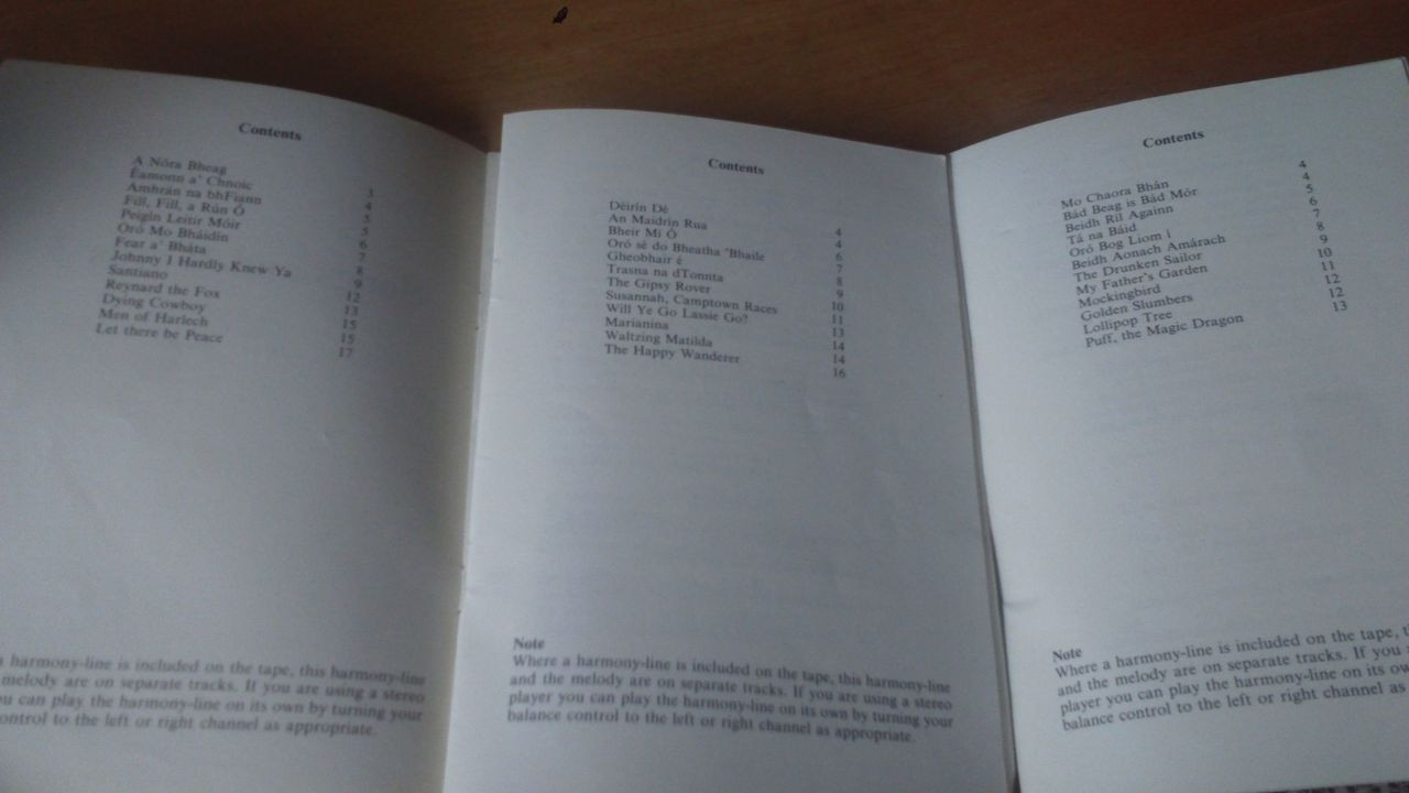 Song Books - Set three paperback 'Songs & Words' School Educational Company  1982 with Chords