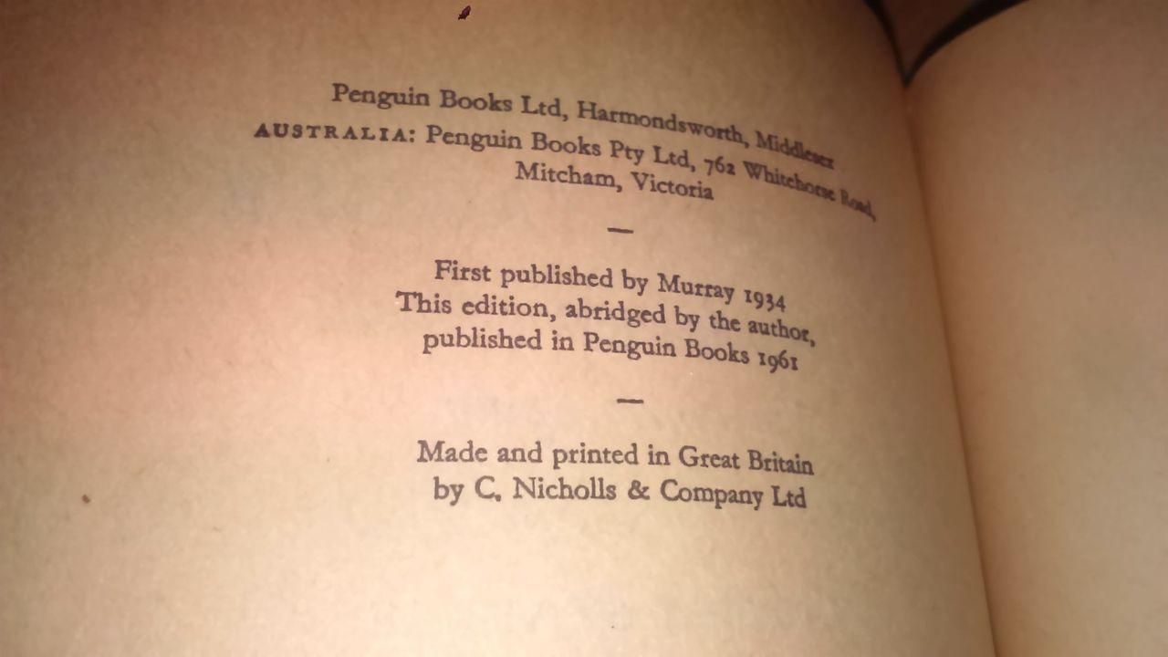 Starkie, W-  Spanish Raggle-Taggle - Vintage Penguin Books Ed 1961 Travel Spain
