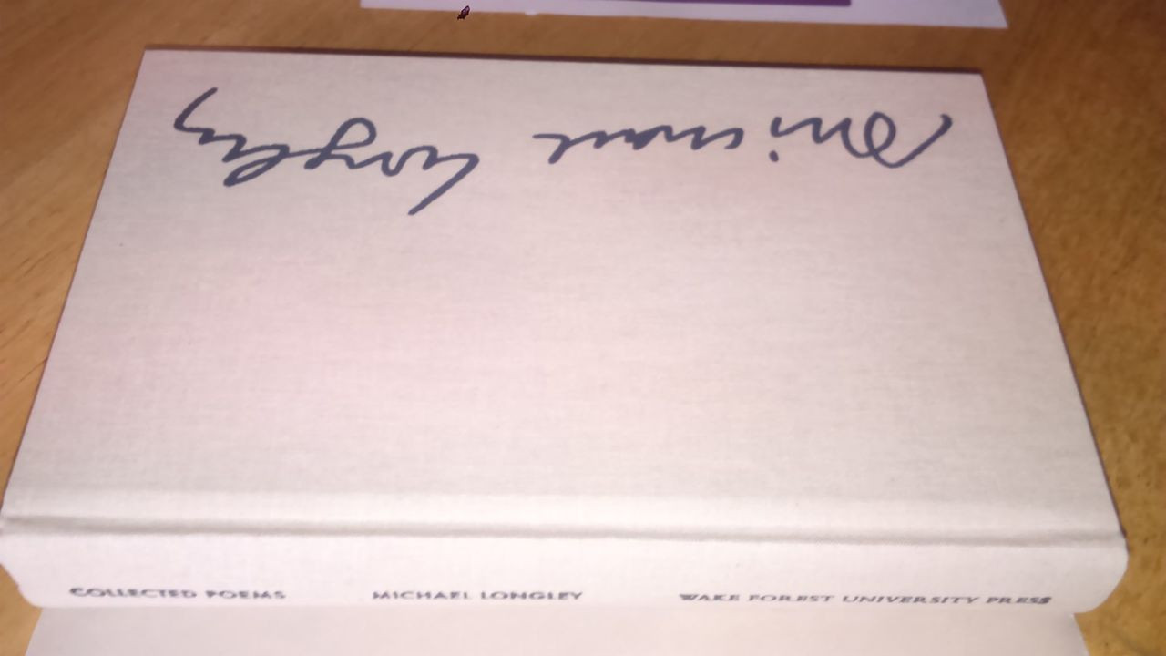 Longley, Michael SIGNED Deluxe Edition Collected Poems HB 1st Ed