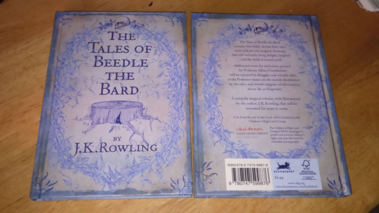Rowling, J.K - Tales of Beedle The Bard - HB UK 1st Edition Hardcover - Harry Potter BRAND NEW