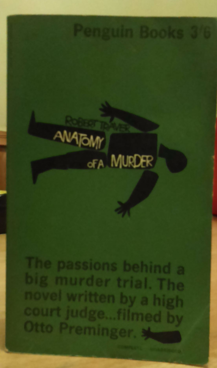 Traver Robert Anatomy Of A Murder Pb 1st Edition Vintage