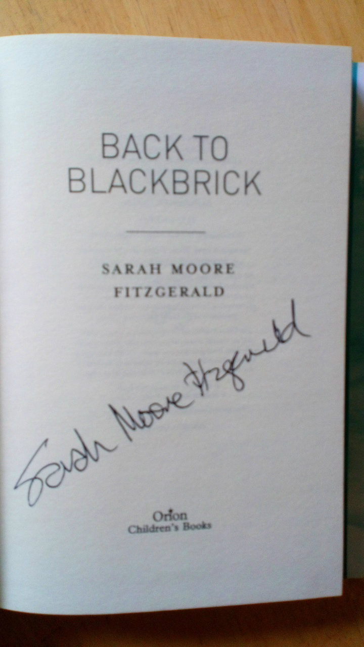 Fitzgerald, Sarah Moore - Back to Blackbrick SIGNED HB 1st ED