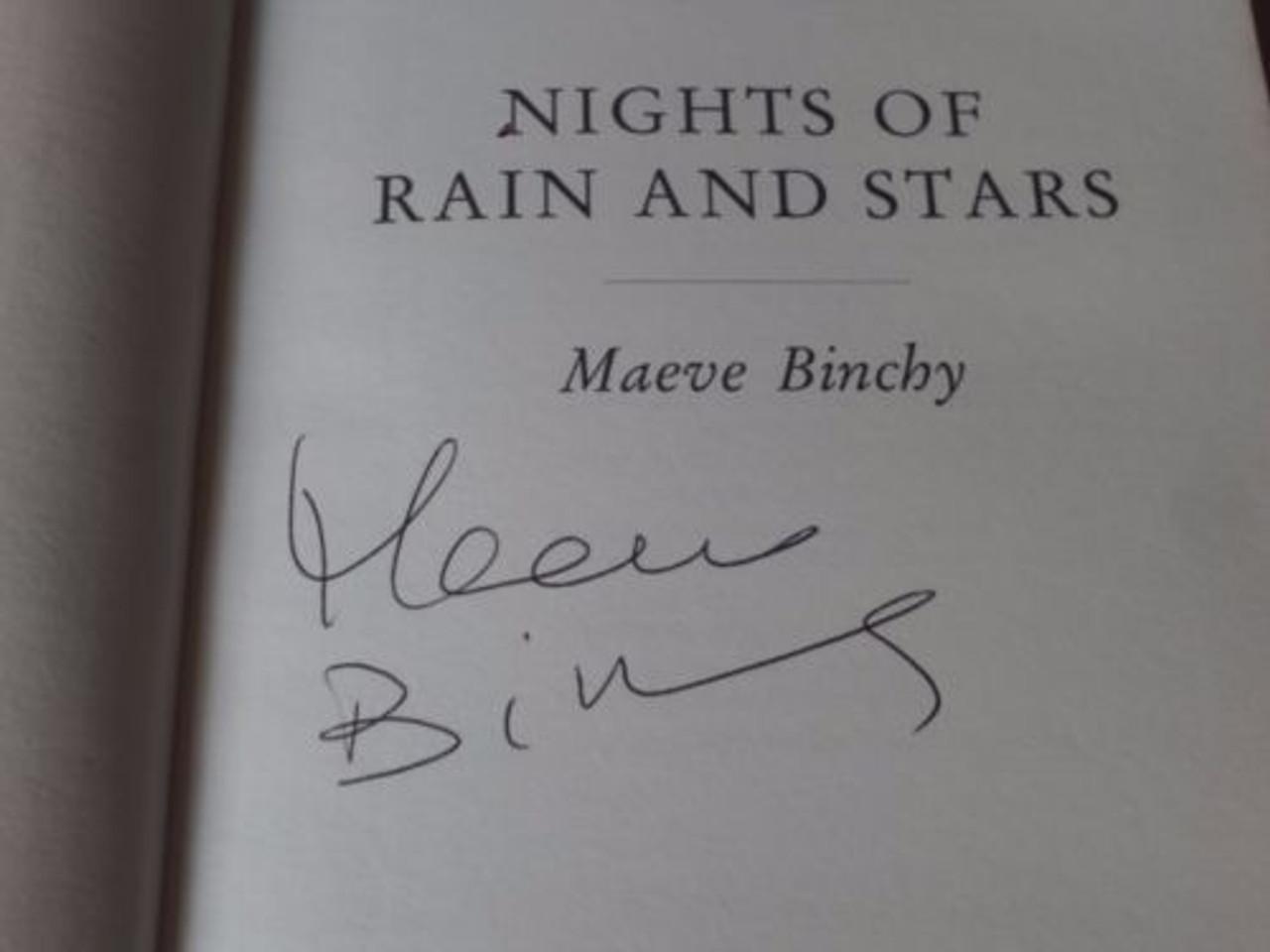 Maeve Binchy Nights of Rain and Stars (Hardback, 2004) Ireland SIGNED Hardcove