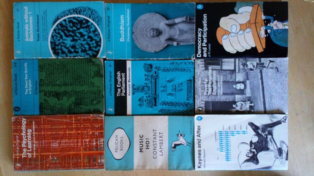 9 Book Lot - Vintage Penguiin Pelicans - Non Fiction - Politics, Religion, Science, Psychology