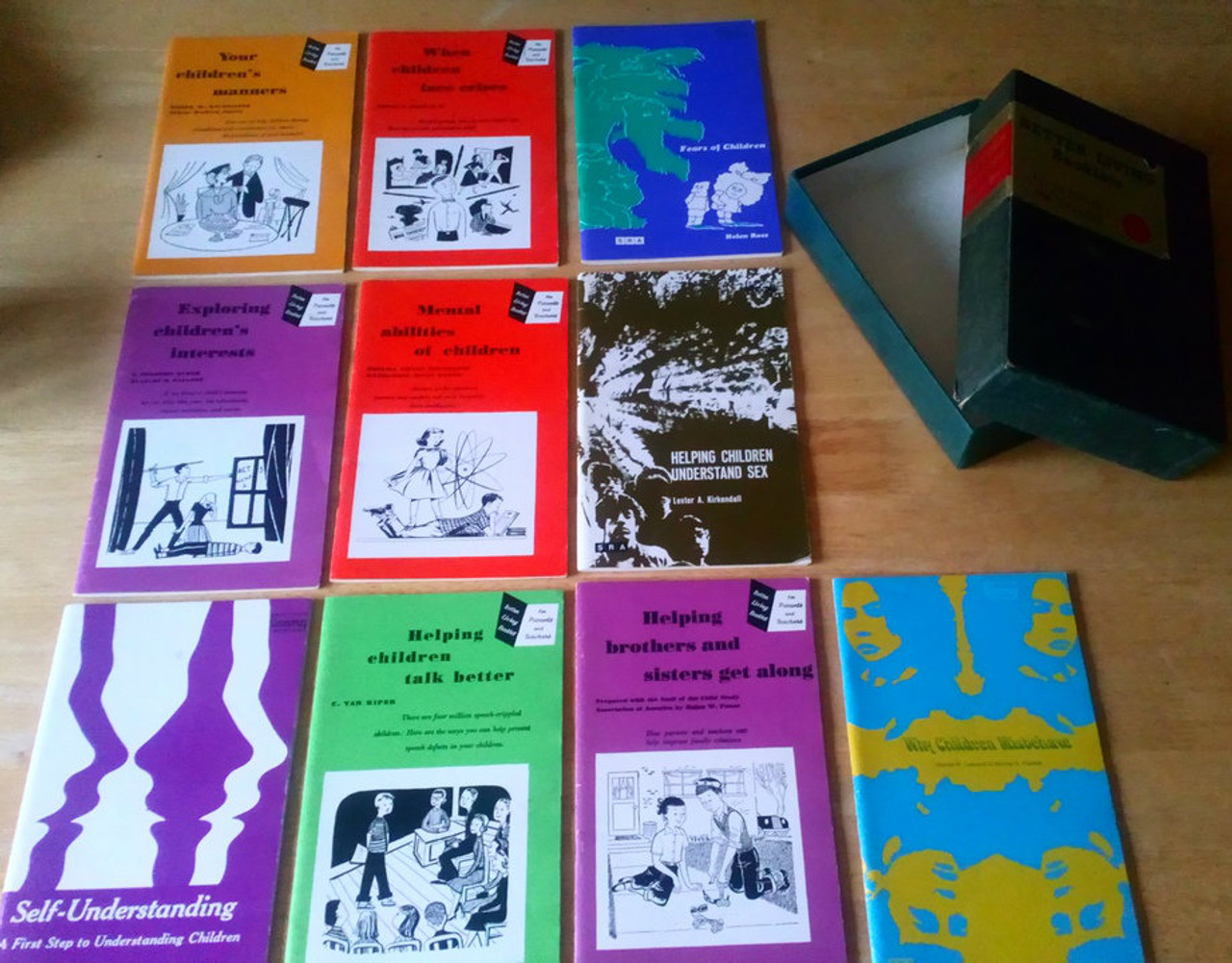 Science Research Associates Ltd - Better Living Booklets ( for parents and teachers- Boxed set of 10 Vintage