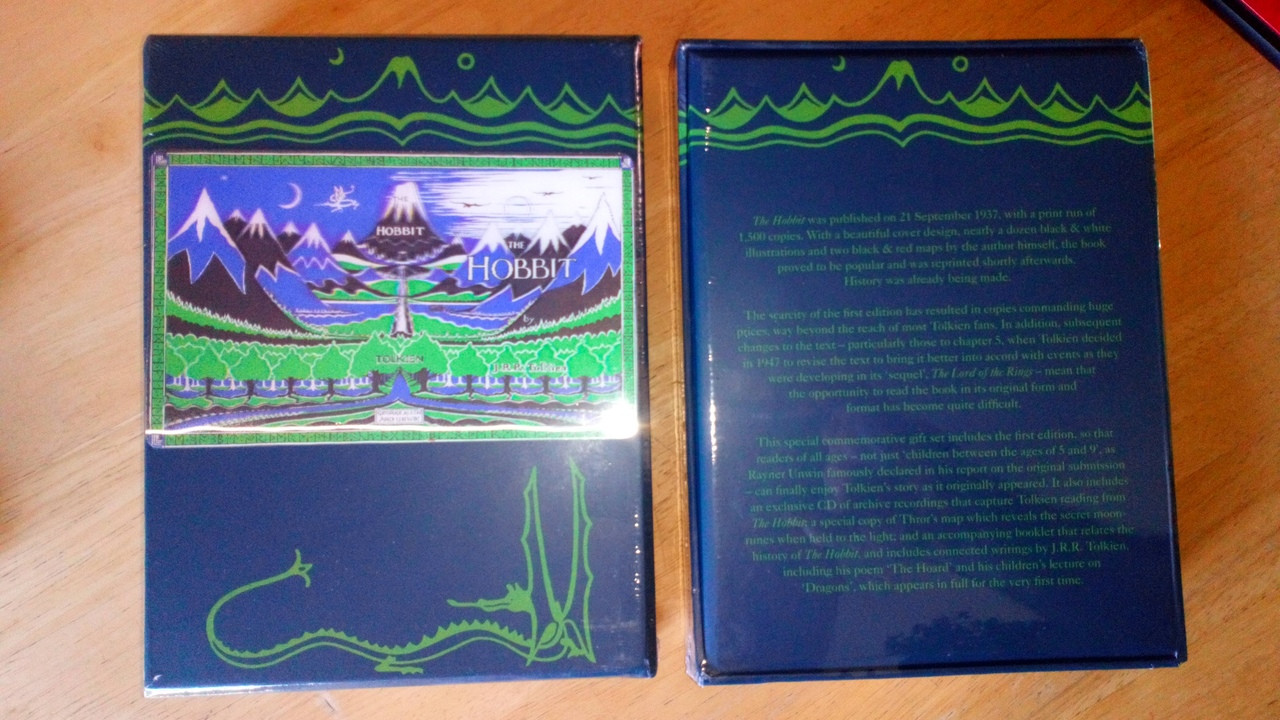 Tolkien, J.R R - The Hobbit Box set Sealed New Gift Edition  Lenticular Cover facsimile 1st Ed