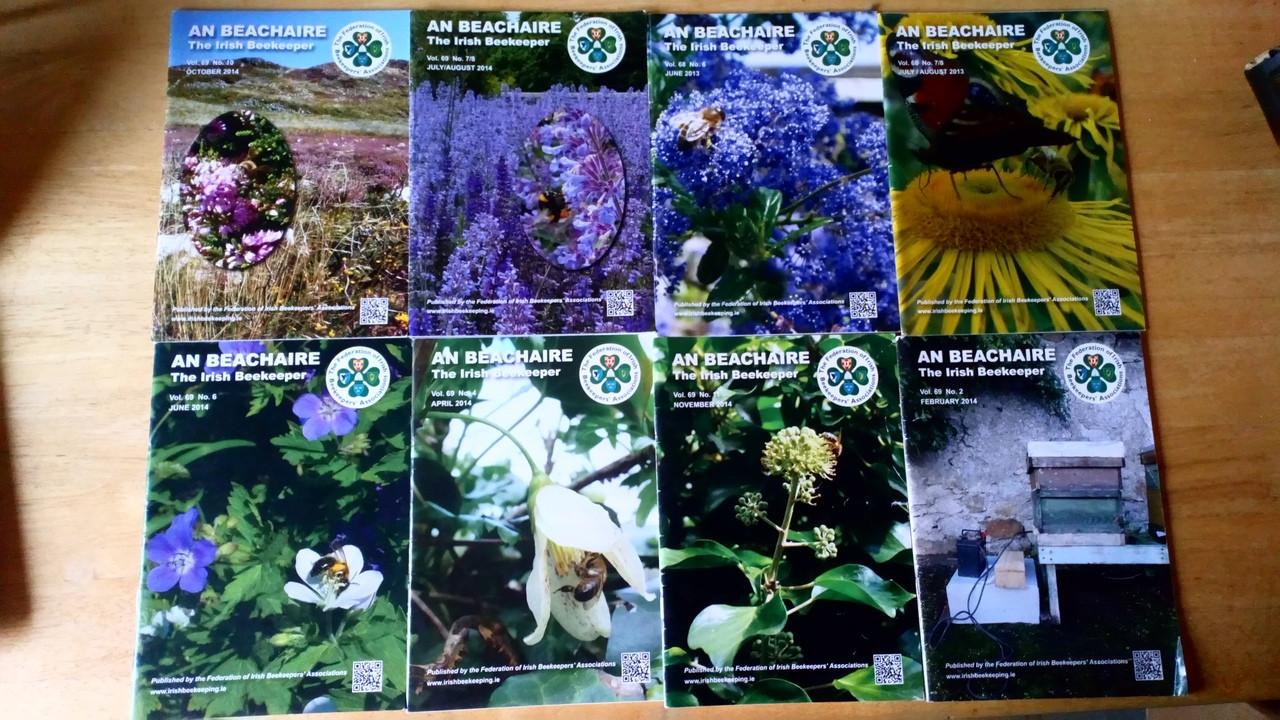 An Beachaire - The Irish Beekeeper Magazine -  8 issue Lot - 2013/14