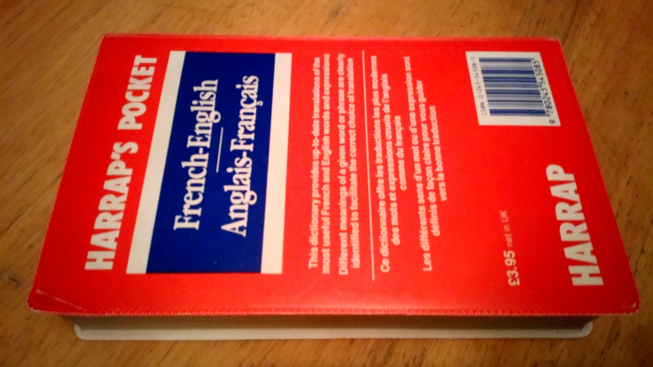 Harrap's French - English  & Anglais- Francais Pocket Dictionary