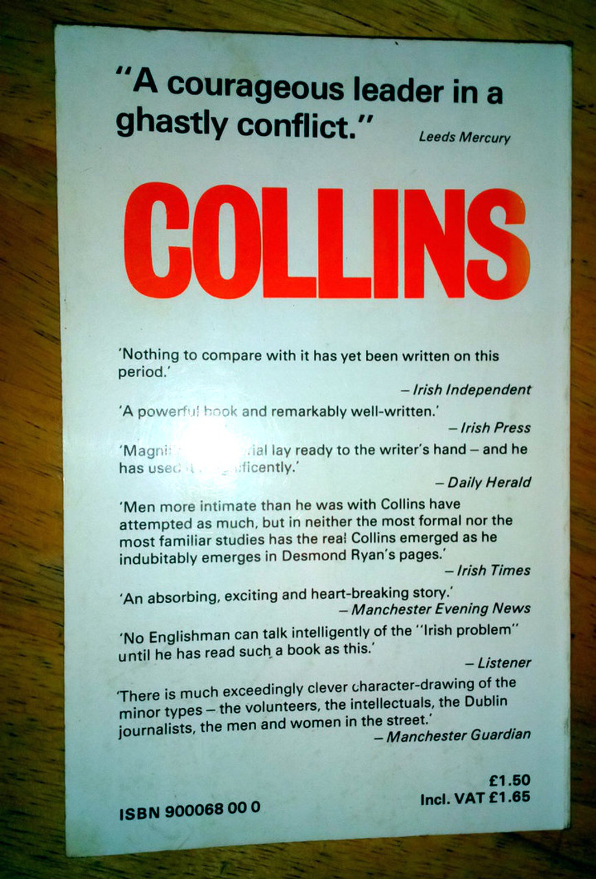 Ryan, Desmond - Michael Collins and the Invisible Army - Vintage PB Anvil Press  - War of Independence
