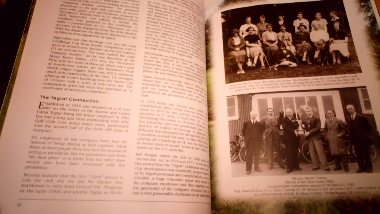 Taafe, Frank - Athy Golf Club Centenary History 1906-2006 - Hardcover Co. Kildare