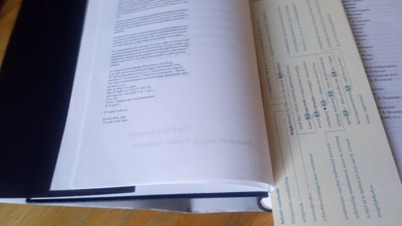 W Martin, M W Tops - Van Dale Groot Woordenboeken: Engels - Nederlands HB - English Dutch Dictionary