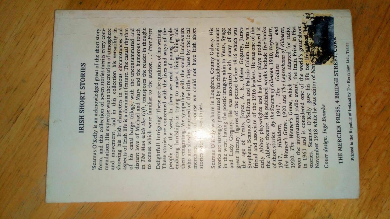O'Kelly, Seamus - Irish Short Stories - Vintage Mercier PB 1976 Ed