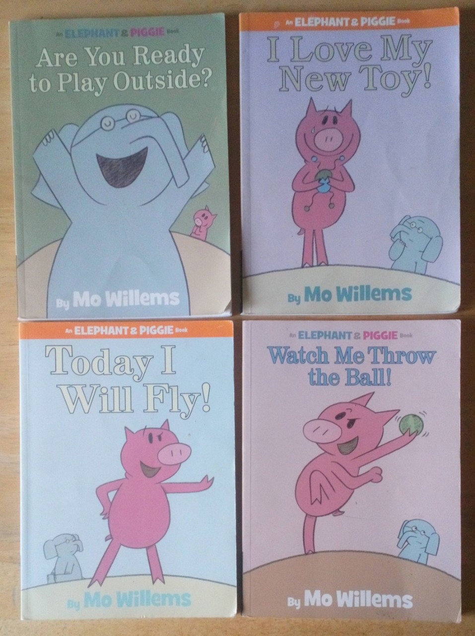 Willems, Mo - 4 Book Lot Illustrated Children's Books - Elephant & Piggie Books