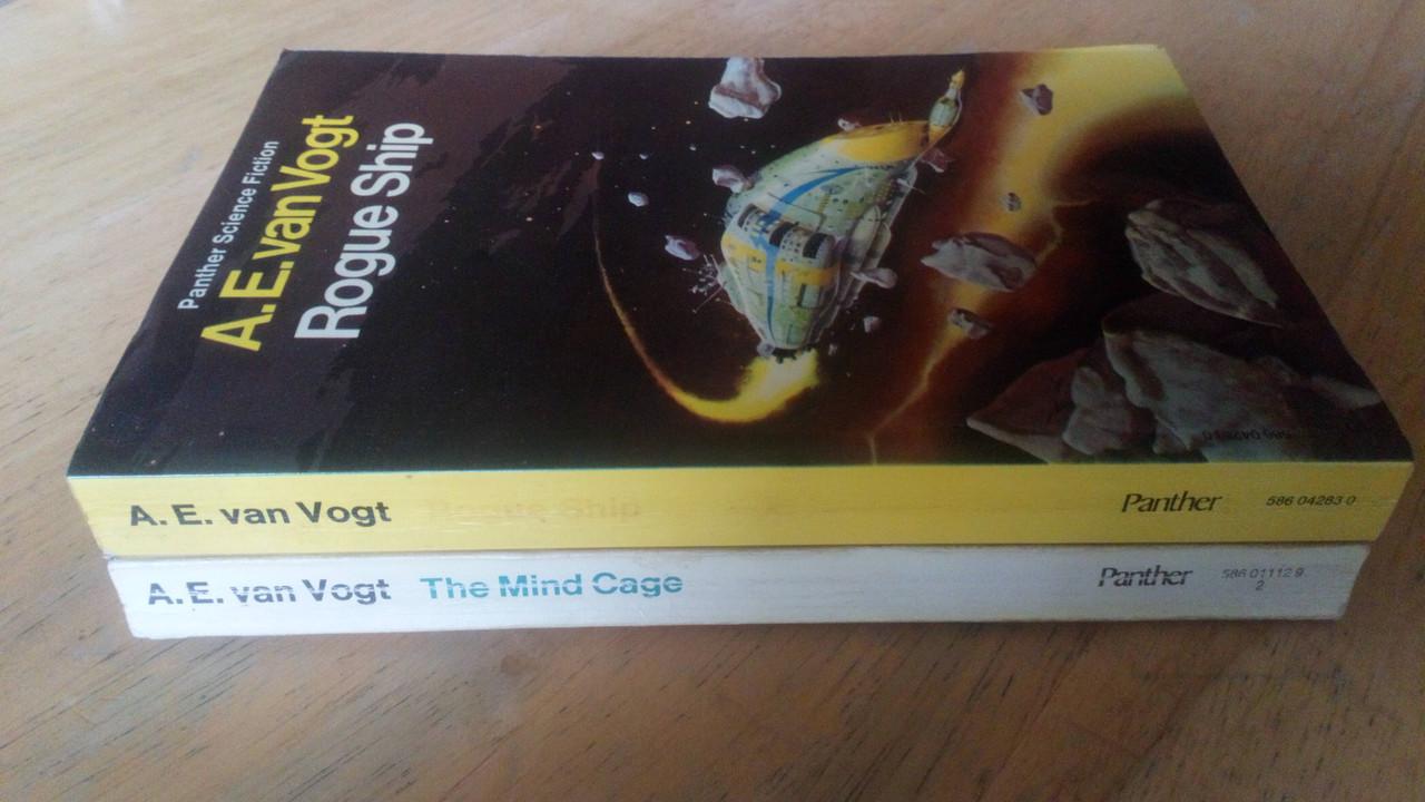 Van Vogt, A.E - The Mind Cage & Rogue Ship - 2 Vintage Panther Science Fiction PB