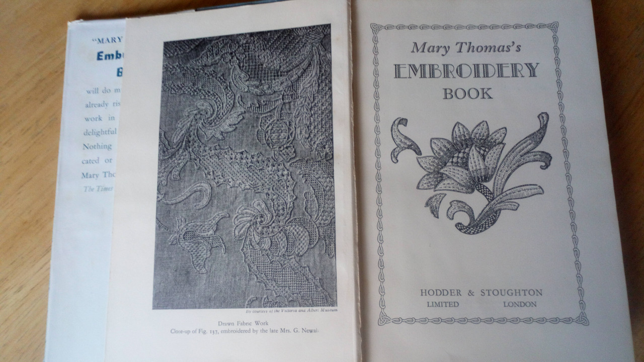 Thomas, Mary - Embroidery Book - HB - Vintage Craftwork 1960 ED- Stitching, needlework