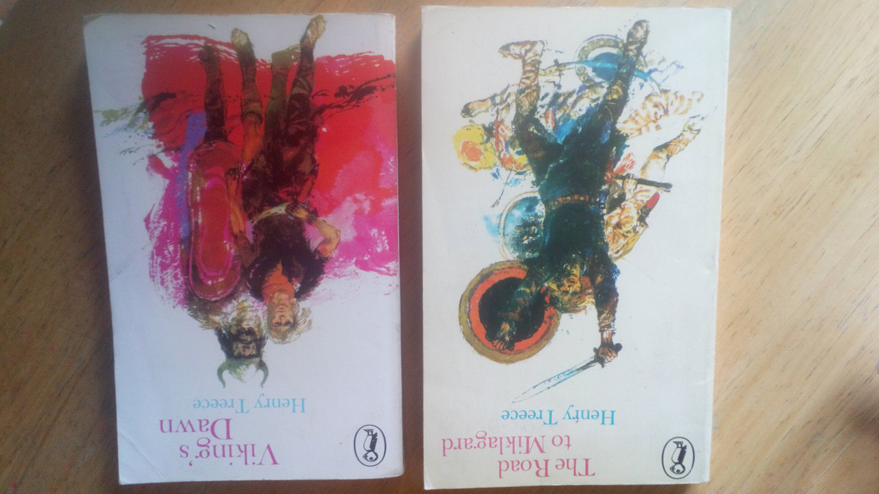Treece, Henry - The Road to Miklagard & Viking's Dawn - 2 Vintage Puffin PB