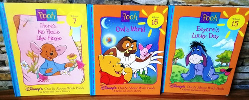 Disney's Out & About With Pooh / A Grow and Learn Library (9 Book Collection)