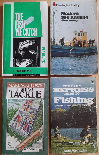 4 Book PB Lot - FISHING - Modern Sea Angling , The Fish We Catch, Daily Express Guide to Fishing , Make Your Own Fishing Tackle