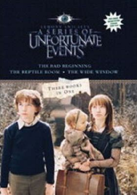 """Snicket, Lemony / A Series of Unfortunate Events"""" : """"The Bad Beginning"""", """"The Reptile Room"""", """"The Wide Window"""" (Hardback)"""