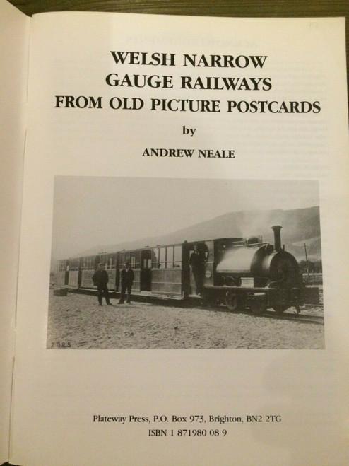 Neale, Andrew - Welsh Narrow Gauge Railways - PB - 1991