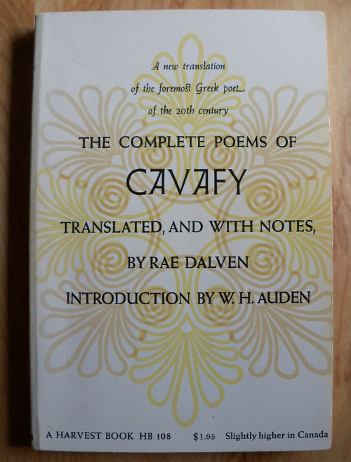 Dalven, Rae ( Editor) - The Complete Poems of Cavafy - PB - 1961