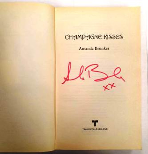 Amanda Brunker / Champagne Kisses (Signed by the Author) (Paperback) (1)