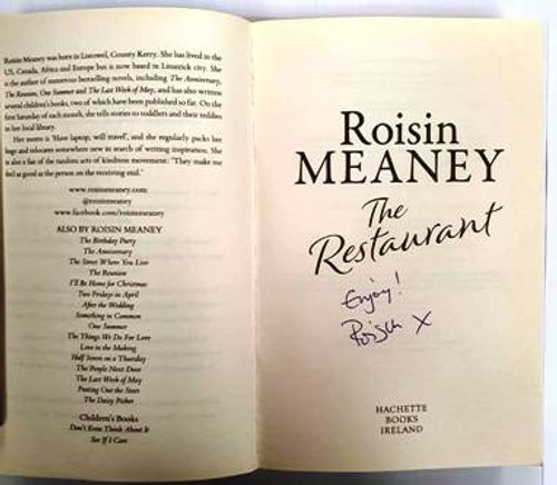 Roisin Meaney / The Restaurant (Signed by the Author) (Paperback)