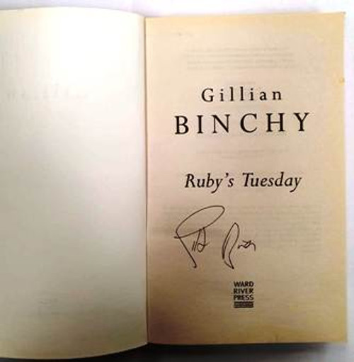 Gillian Binchy / Ruby's Tuesday (Signed by the Author) (Paperback)