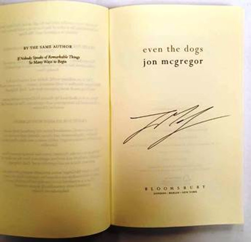 Jon McGregor / Even The Dogs (Signed by the Author) (Hardback)