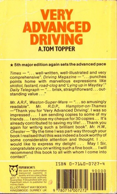 Topper, A. Tom / Very Advanced Driving
