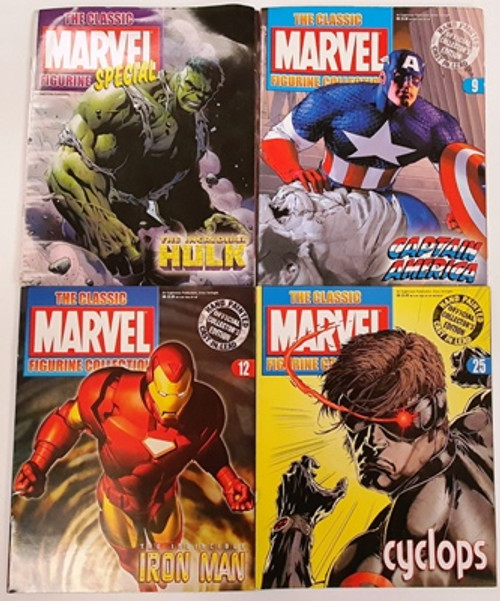 The Classic Marvel Figurine Collection (34 Comic Book Collection) (Figurines not Included)