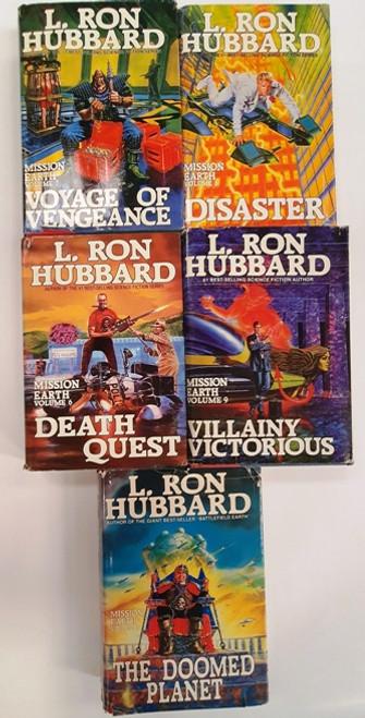 L. Ron Hubbard (5 Hardback Book Collection) Dustjackets Damaged