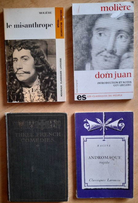 4 Book Lot - French Drama & Literature - Racine, Moliere etc- PB