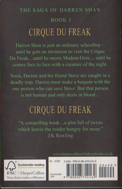 Shan, Darren / Cirque Du Freak ( Saga of Darren Shan , Book 1 )