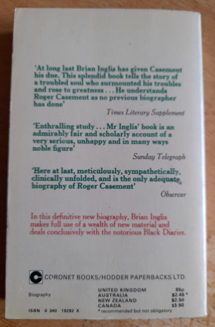 Inglis, Brian - Roger Casement - Vintage 1974 Biography
