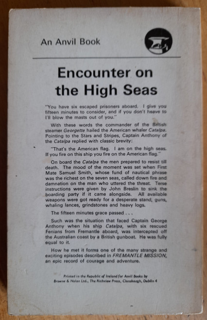 Ó Luing Seán - Fremantle Mission - The Dramatic Story of a Daring Fenian Rescue - PB - 1965