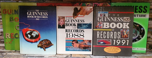 The Guinness Book Of Records (15 Older Book Collection)