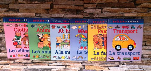 English - French Children's Books (6 Book Collection)