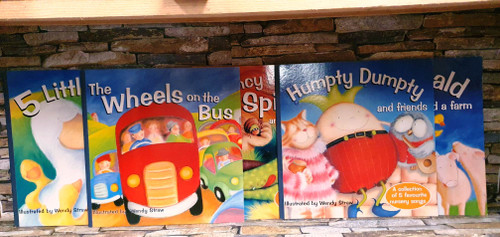 Nursery Rhymes: Illustrated by Wendy Straw (5 Large Book Collection)