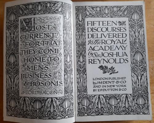Reynolds, Joshua - Fifteen Discourses on Art - Vintage HB