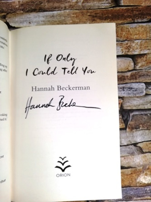 Hannah Beckerman / If Only I Could Tell You  (Signed by the Author)