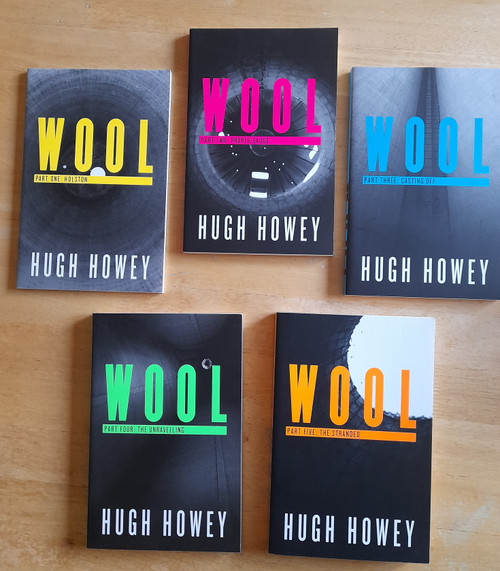 Howey, Hugh - Wool - PB PROMO EDITION IN 5 PB VOLUMES 2013 - SF ( Wool Trilogy - Book 1 ) - Holston, Proper Gauge, Casting Off, The Unravelling, The Stranded