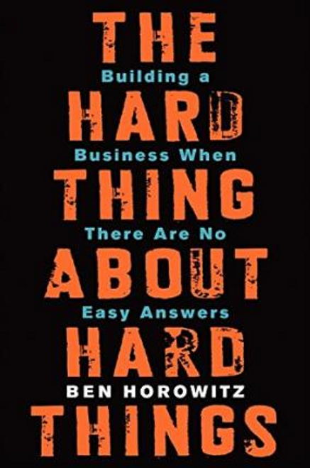 Horowitz, Ben / The Hard Thing About Hard Things : Building a Business When There Are No Easy Answers (Hardback)