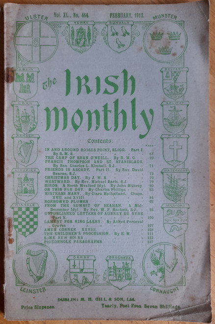 The Irish Monthly - February 1912 - Vintage monthly Magazine - MH Gill & Sons