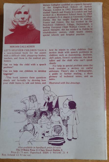 Gallagher, Miriam - Let's Help Our Children Talk - PB - Language and Speech Delay in Children - 1977