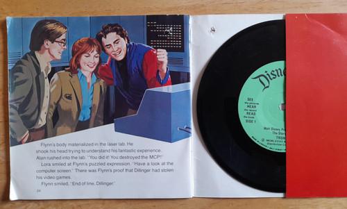 TRON - Vintage FILM Tie in Book & Vinyl Record - 1983