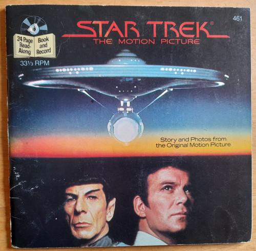 STAR TREK ( The Motion Picture - STAR TREK 1 )  - Vintage FILM Tie in Book & Vinyl Record - 1983