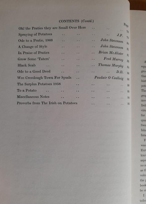 McKay , Robert - Anthology of the Potato in Ireland - HB 1961