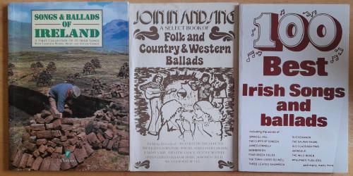 Irish Songs and Ballads - 3 Book LOT - ( Join In & Sing- Folk & Country & Western Ballads, ,100 Best Irish Songs & Ballads, Songs & Ballds of Ireland)