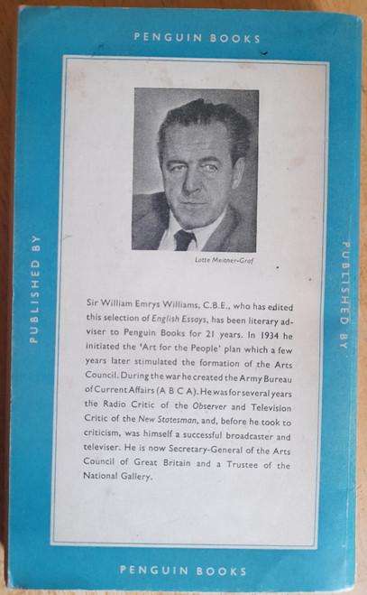 Williams, W.E ( Editor)  - A Book of English Essays - Vintage Pelican PB 1957, Originally 1942)